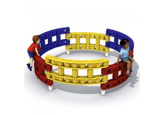6-Panel Chain Link Circle