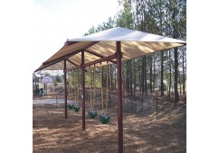 8 feet high Regal Single Post Swing with Shade