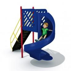 6 feet high 360 Degree Turn Open Spiral Slide