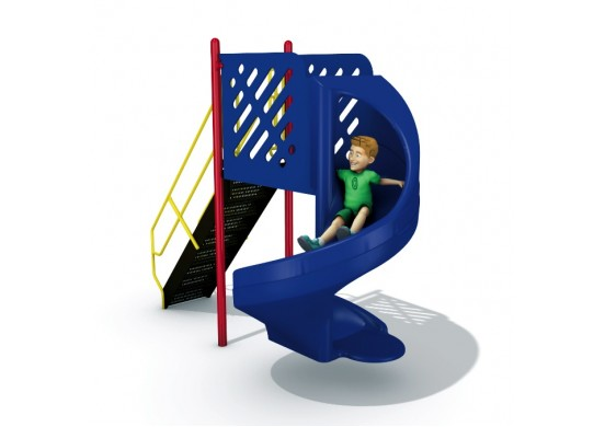 6 feet high 360 Degree Turn Open Spiral Slide