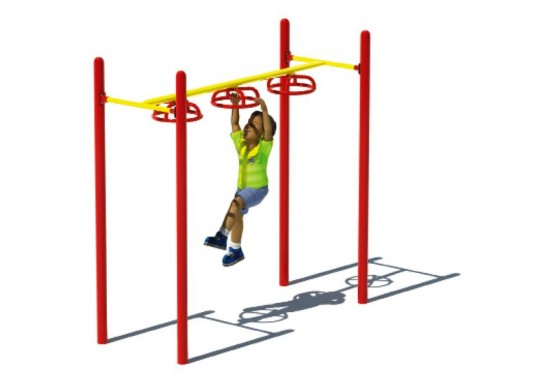 Three Wheel Swinger Overhead Climber