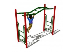 Wavy Straight Rung Overhead Climber