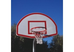 Heavy-Duty Complete Bent Post Basketball Backstop