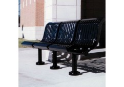 Downtown Ribbed Straight Bench