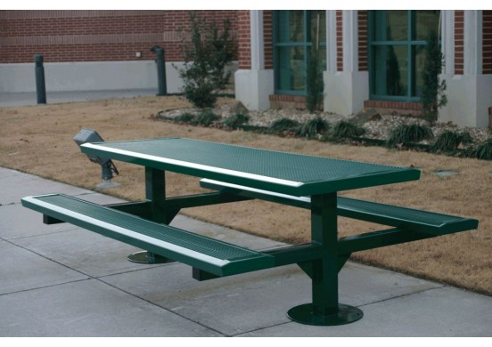 Infinity Double Pedestal Frame Rectangle Picnic Table