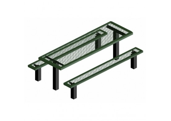 Infinity Pedestal Frame Rectangle Picnic Table