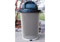 Taper Expanded Steel Trash Receptacle