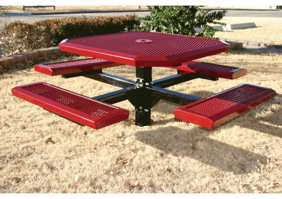 Infinity Single Pedestal Frame Octagon Picnic Table