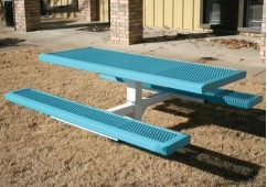 Infinity Single Pedestal Frame Rectangle Picnic Table