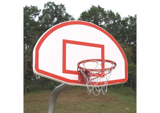 Super-Duty Complete Bent Post Basketball Backstop