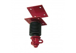 Heavy-Duty Flat Plate Tire Swivel