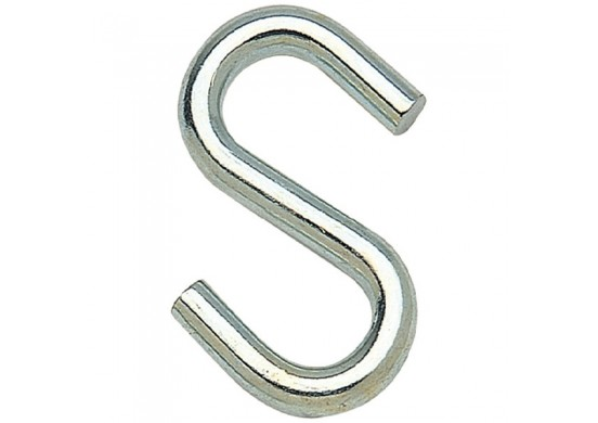 Standard Loop Zinc Plated S-Hook