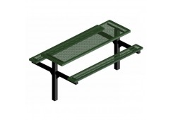 Infinity Innovated Double Pedestal Frame Rectangle Picnic Table