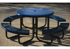 Canteen Solid Top Portable Frame Circle Picnic Table