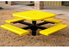 Infinity Innovated Single Pedestal Frame Octagon Picnic Table