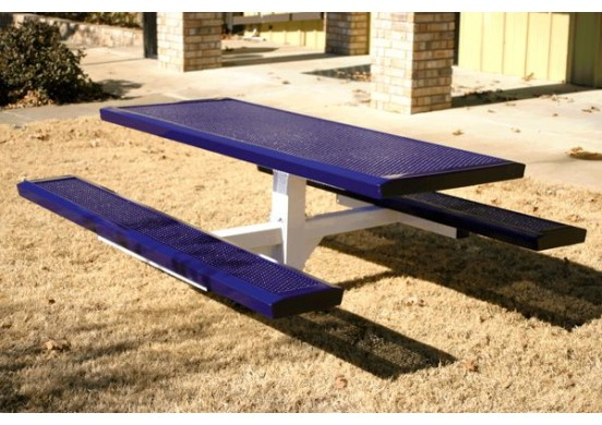Infinity Innovated Single Pedestal Frame Rectangle Picnic Table