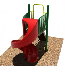6 feet high Open Spiral Slide