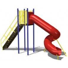 8 feet high Spiral Tunnel Slide