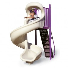 6 feet high 360 Degree Open Spiral Slide
