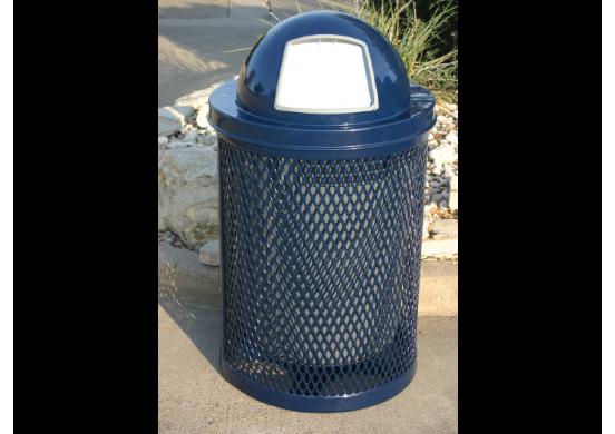 32 Gallon Trash Receptacle with Diamond Pattern