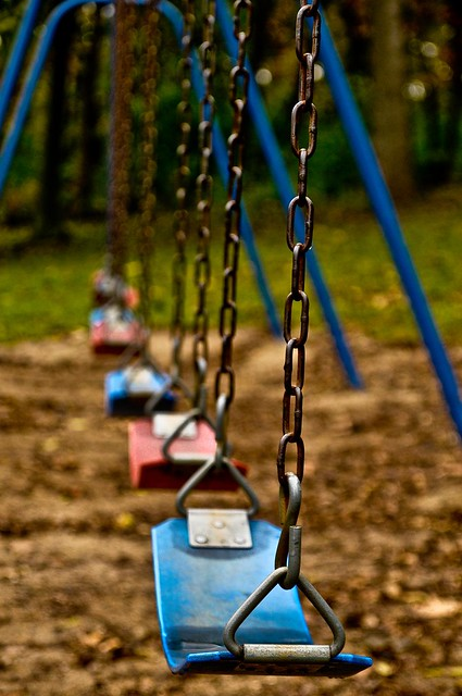 Exposed metal swings