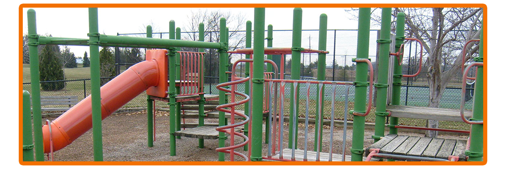 Heavily Used Playground Equipment