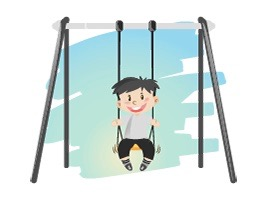 The first metal swing sets came with the industrial revolution
