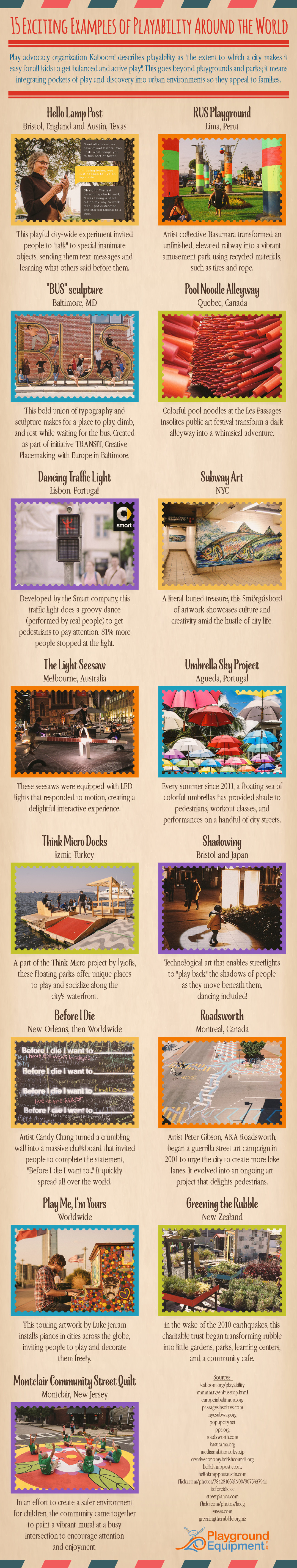 15 Exciting Examples of Playability Around the World - Infographic