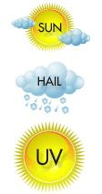 Use Shade for Sun, Hail, and UV Protection